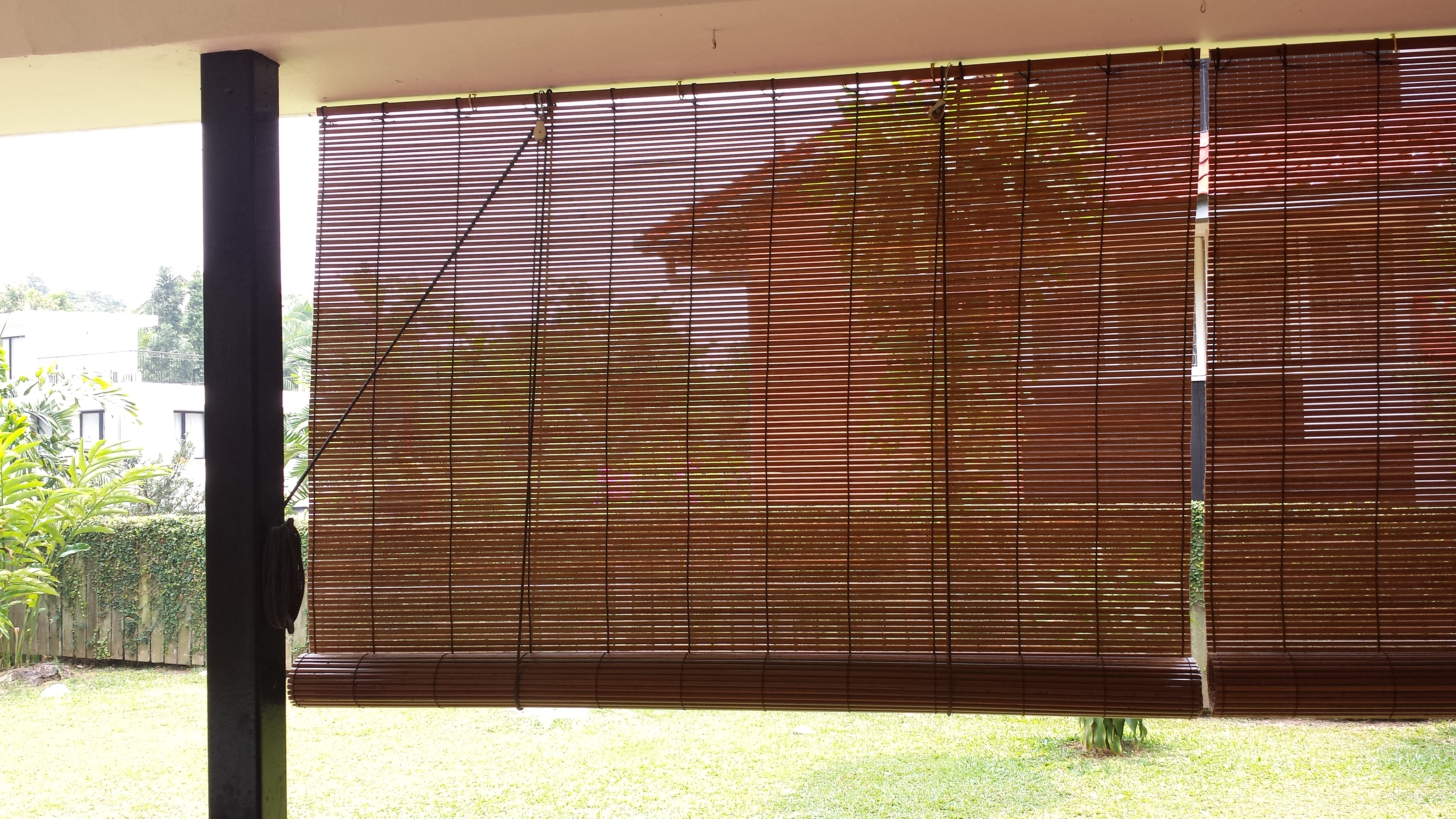 Outdoor Bamboo Blinds - Blind studio bamboo chicks and blinds in singapore