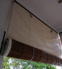 Natural Colour Bamboo Blinds With Backing