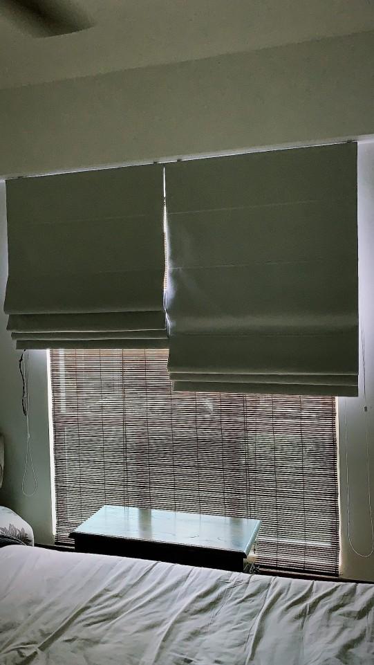 Roman blinds x Bamboo blinds